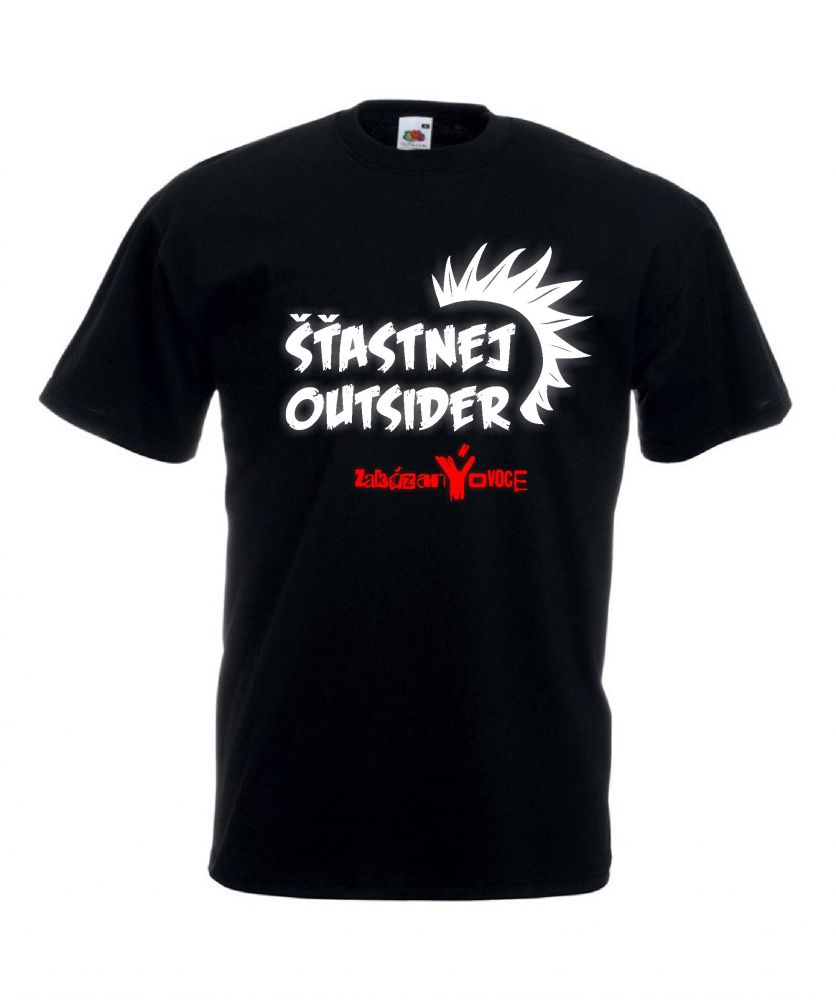 Tričko pánské Šťastnej Outsider - zakázanÝovoce
