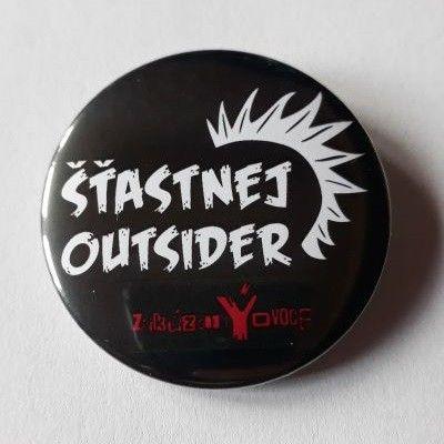 Placka Šťastnej Outsider 44 mm - zakázanÝovoce